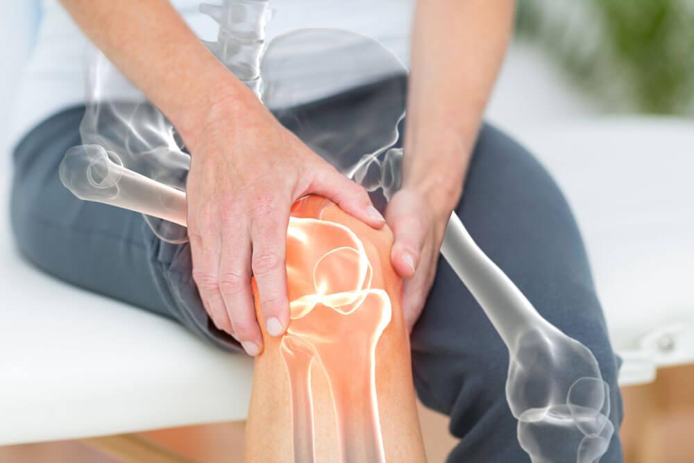 Knee joint pain illustration