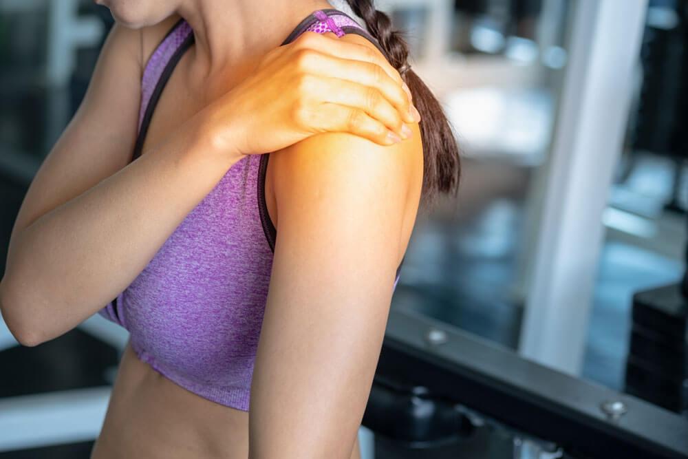 Shoulder joint pain illustration